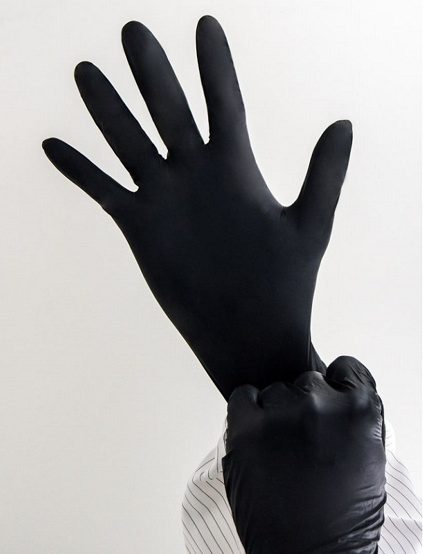 Photo 6 medical nitrile gloves black