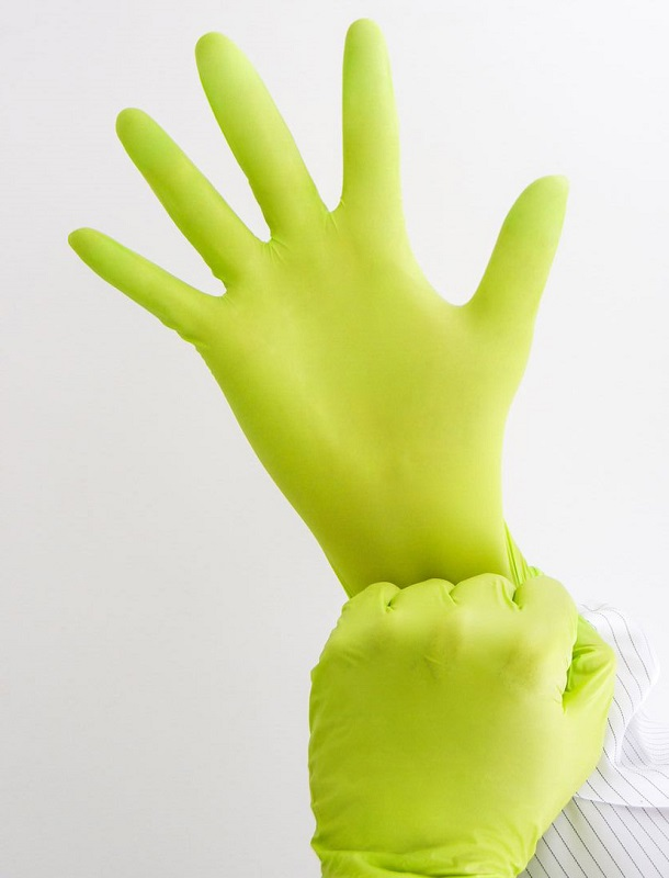 Photo 6 medical nitrile gloves green